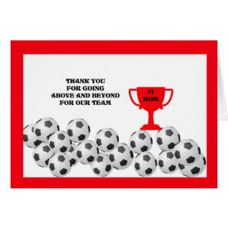 Soccer Mom Thank You Card