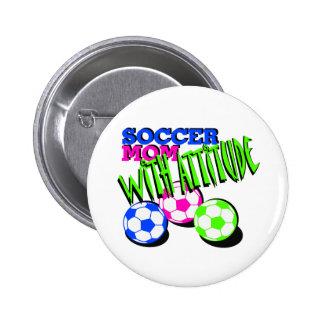 Soccer Mom with Attitude 2 Inch Round Button
