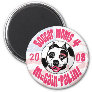 Soccer Moms 4 McCain Palin 2 Inch Round Magnet