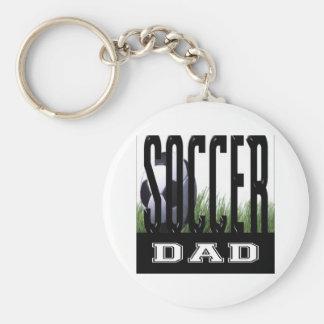 Soccer Mom's & Dad's Basic Round Button Keychain