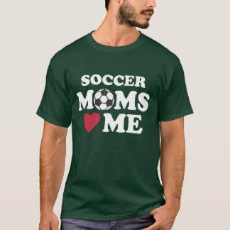 """SOCCER MOMS """"HEART""""  ME T-Shirt"""