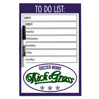 Soccer Moms Kickgrass Dry Erase Board