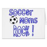 Soccer Moms Rock ! (blue) Greeting Card