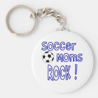 Soccer Moms Rock ! (blue) Key Chains