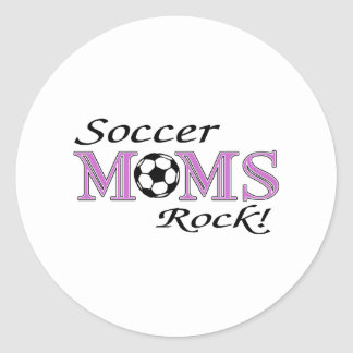 Soccer Moms Rock Classic Round Sticker