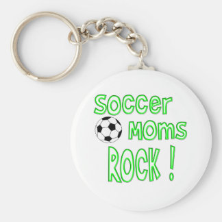Soccer Moms Rock ! (green) Key Chain