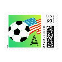 Soccer Monogram Postage