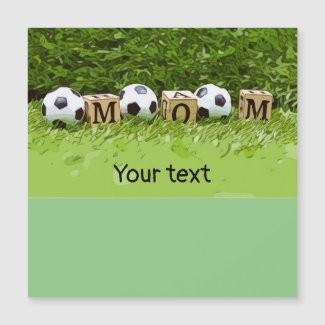 Soccer Mother's Day with ball and word MOM Magnet