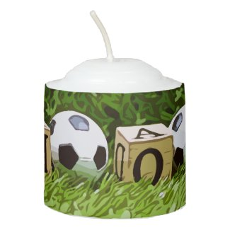 Soccer Mother's Day with ball  and word MOM  Votive Candle