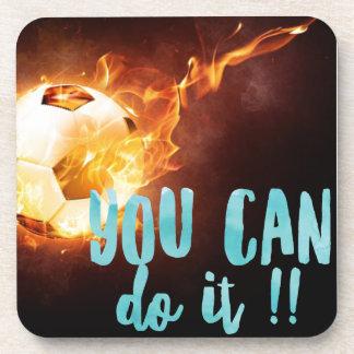 Soccer Motivational Inspirational Success Beverage Coaster