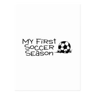 Soccer My First Soccer Season Postcard