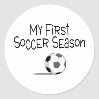 Soccer My First Soccer Season (Soccer Ball) Round Stickers
