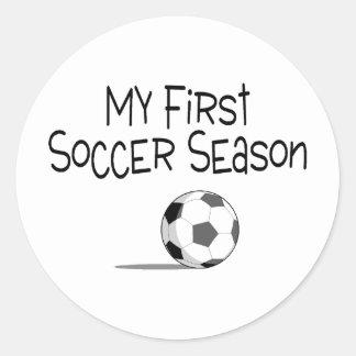 Soccer My First Soccer Season (Soccer Ball) Round Sticker