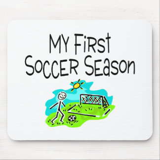 Soccer My First Soccer Season Stick Figues Mouse Pad