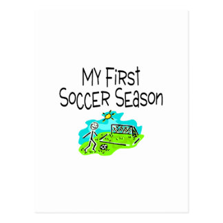 Soccer My First Soccer Season Stick Figues Postcard