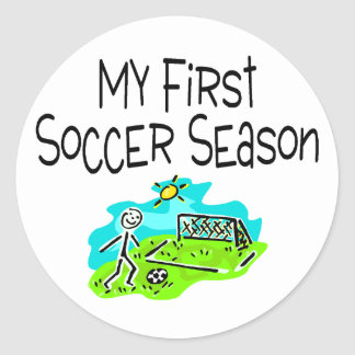 Soccer My First Soccer Season Stick Figues Sticker