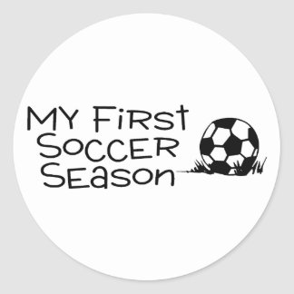 Soccer My First Soccer Season Round Stickers