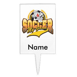 Soccer My Game Cake Picks