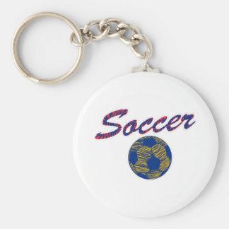 Soccer N Ball Keychain