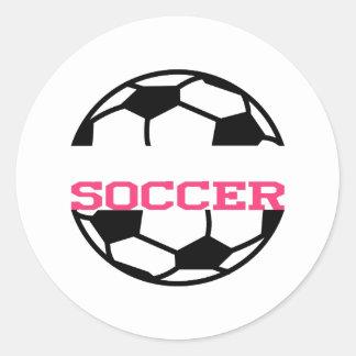 Soccer Name Drop Classic Round Sticker