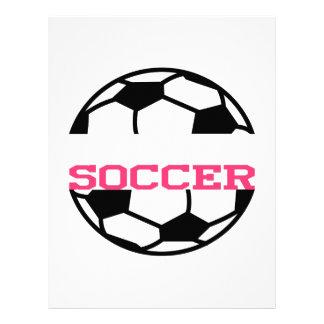 Soccer Name Drop Letterhead