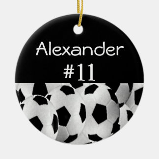 Soccer Name Number Christmas Tree Ornaments