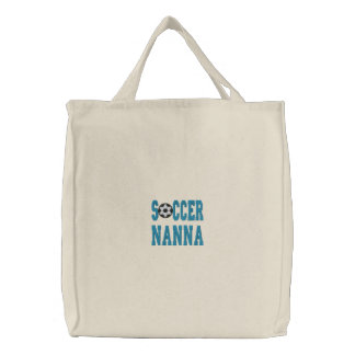 Soccer Nanna Embroidered Tote Bag