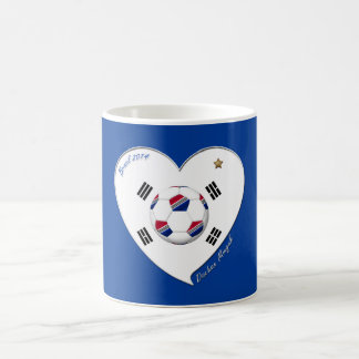 SOCCER national team and flag of SOUTH KOREA 2014 Coffee Mug