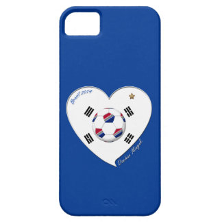 SOCCER national team and flag of SOUTH KOREA 2014 iPhone SE/5/5s Case