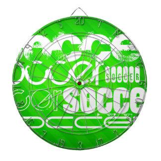 Soccer; Neon Green Stripes Dartboard