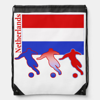 Soccer Netherlands Drawstring Bag