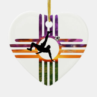 Soccer New Mexico Ceramic Ornament