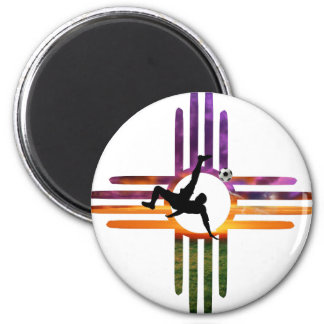 Soccer New Mexico Magnet