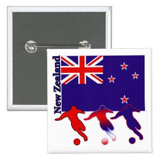 Soccer New Zealand Pin