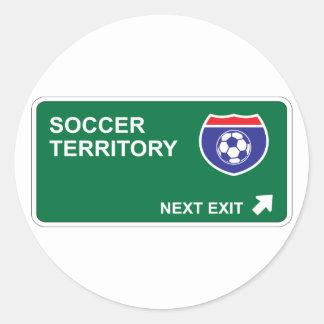 Soccer Next Exit Classic Round Sticker