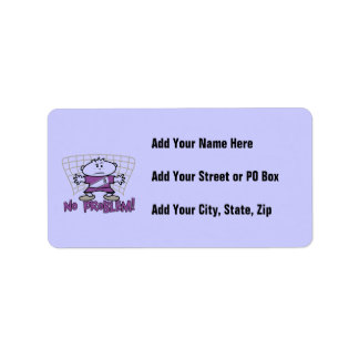 Soccer No Problem T-shirts and Gifts Address Label