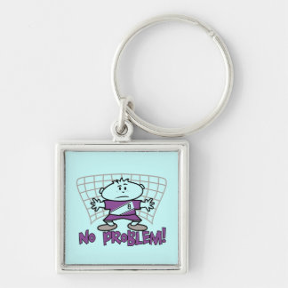 Soccer No Problem T-shirts and Gifts Keychain