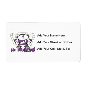 Soccer No Problem T-shirts and Gifts Shipping Label