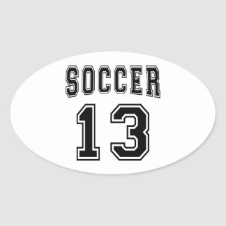 Soccer Number 13 Designs Stickers