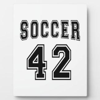 Soccer Number 42 Designs Plaque