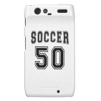 Soccer Number 50 Designs Motorola Droid RAZR Cases