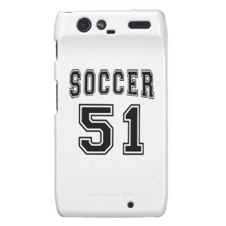 Soccer Number 51 Designs Droid RAZR Cases