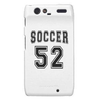 Soccer Number 52 Designs Motorola Droid RAZR Cover