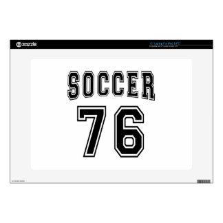 Soccer Number 76 Designs Laptop Decals