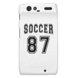Soccer Number 87 Designs Motorola Droid RAZR Covers