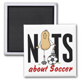 Soccer Nut 2 2 Inch Square Magnet