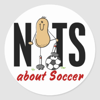 Soccer Nut 2 Classic Round Sticker