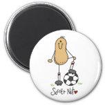 Soccer Nut 2 Inch Round Magnet