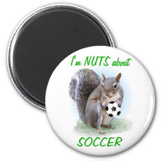 Soccer Nut 2 Inch Round Magnet