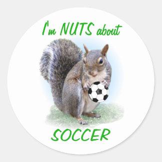 Soccer Nut Classic Round Sticker